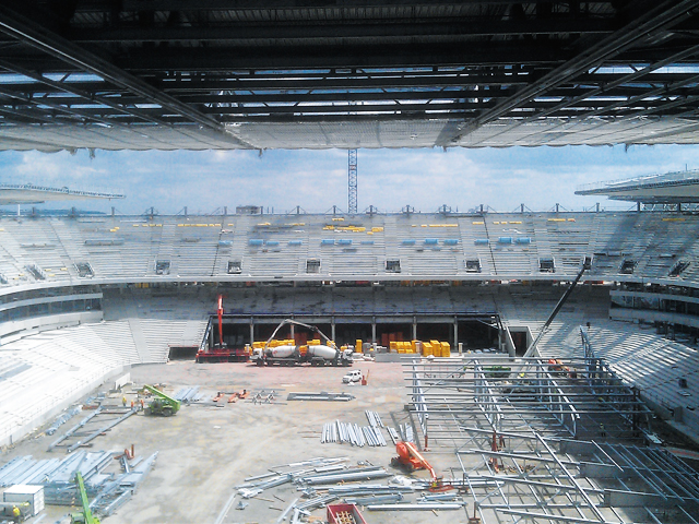 Grand stade de Bordeaux - Comportement vibratoire des tribunes
